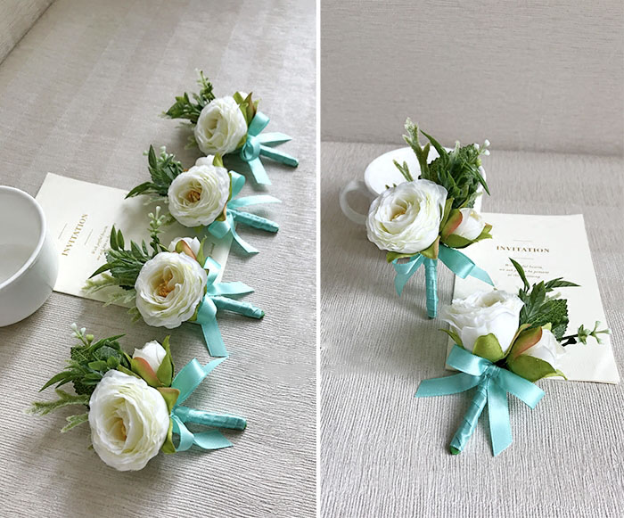 wedding wrist corsage boutonniere marriage  (1)