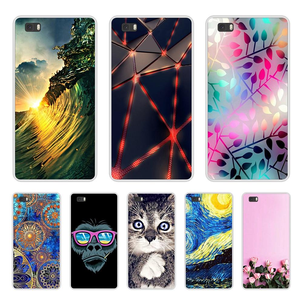 Black Phone Case Huawei P8 Lite 2015 Case Silicone Soft Matte Huawei P 8 Lite P8Lite ALE-L21 Back Cover TPU Protective Case Bag