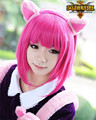 LOL Annie Short Pink Halloween Party Cosplay Wig League of Legends Heat Resistance Natural Hair Wig + Free Cap Free Shipping
