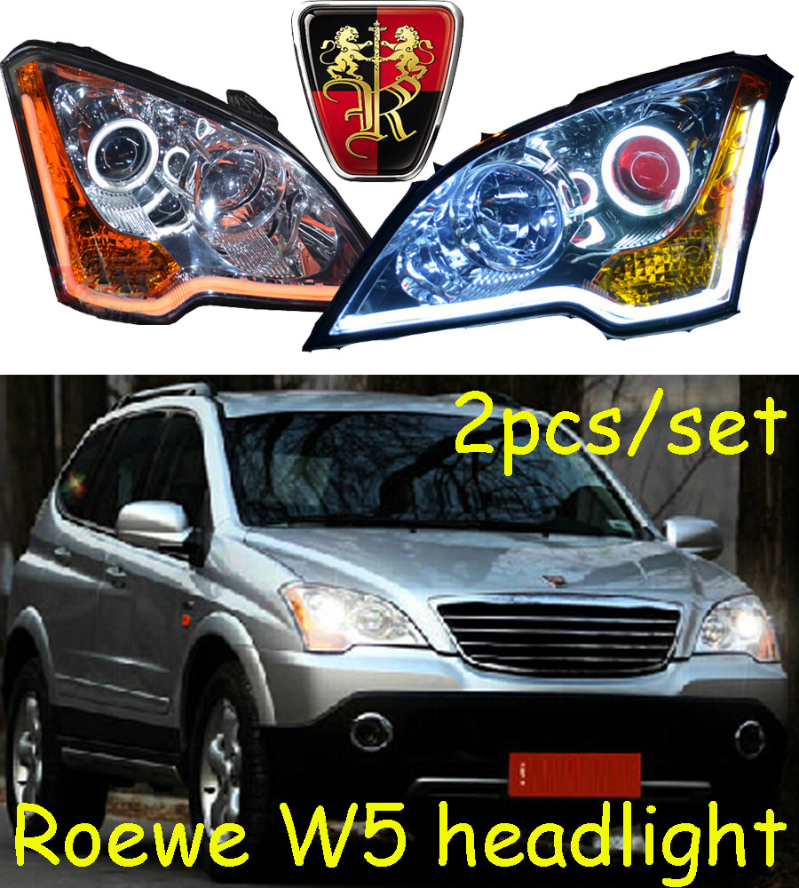 купить Roewe headlight,W5,Fit for LHD and RHD,Free ship! Roewe fog light,2ps/set+2pcs Aozoom Ballast; Roewe W5 недорого