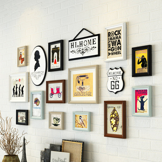 American style photo wall wooden photo frame /girl creative frame ...