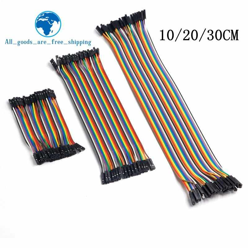 TZT Dupont Line 10cm/20CM/30CM Male to Male+Female to Male + Female to Female Jumper Wire Dupont Cable for arduino DIY KIT