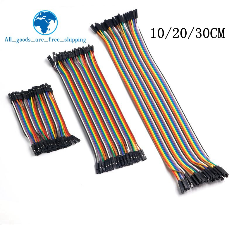 4 Way Dupont Cable Male to Female Prototyping Hook up Cable 20cm long