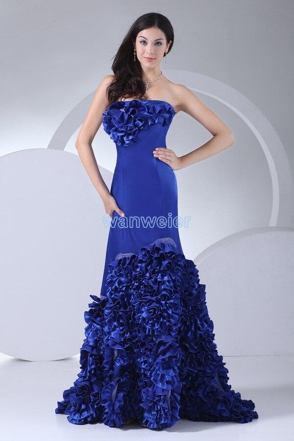 Livraison gratuite 2016 élégant bleu royal robe robes robe taille plus pageant robes celebrity clubwear sirène robe de bal