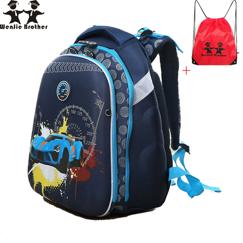 wenjie brother orthpedic quality racingcarbutterfly flower primary school student school bag school backpack for boys and girls inclusion for primary school teachers