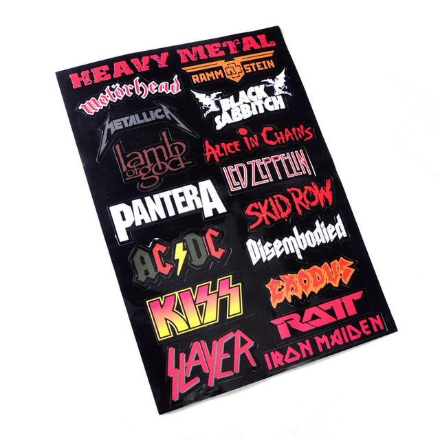 Black rock music sticker band logo decal embroidered new iron on and sew on patch heavy
