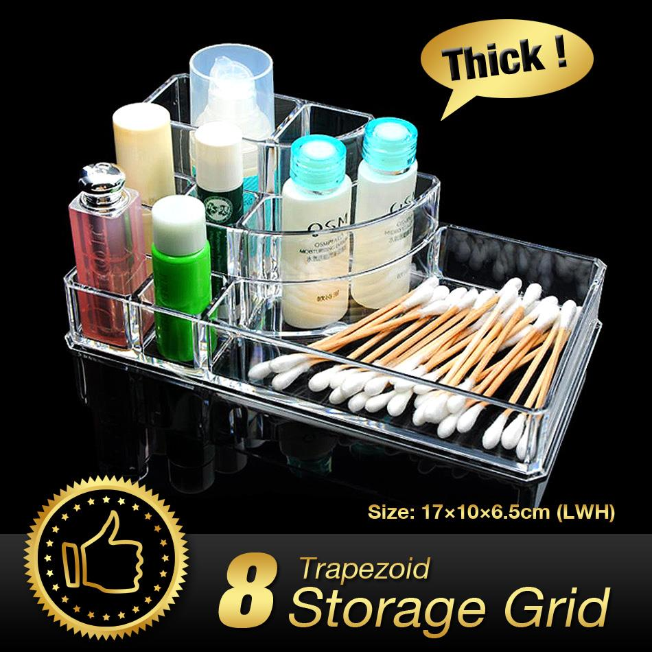 WITUSE TD Acrylic Makeup Organizer cosmetic organiser lipstick holder case make up transparent acrylic holder storage box