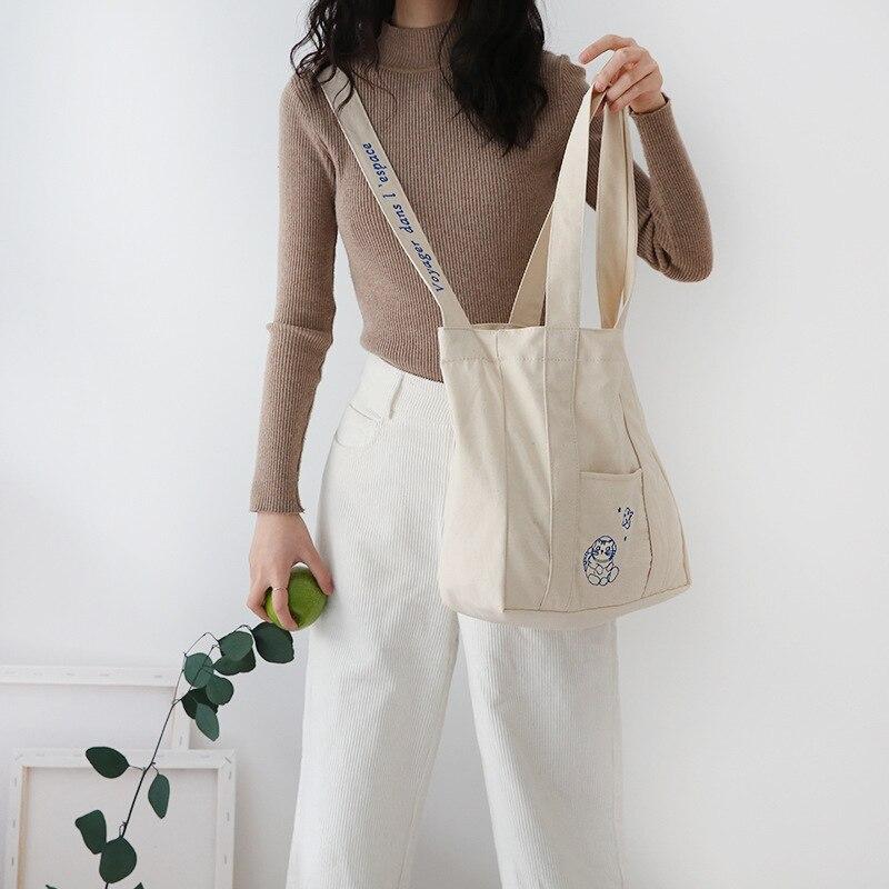 Yile algodão lona eco sacola de compras