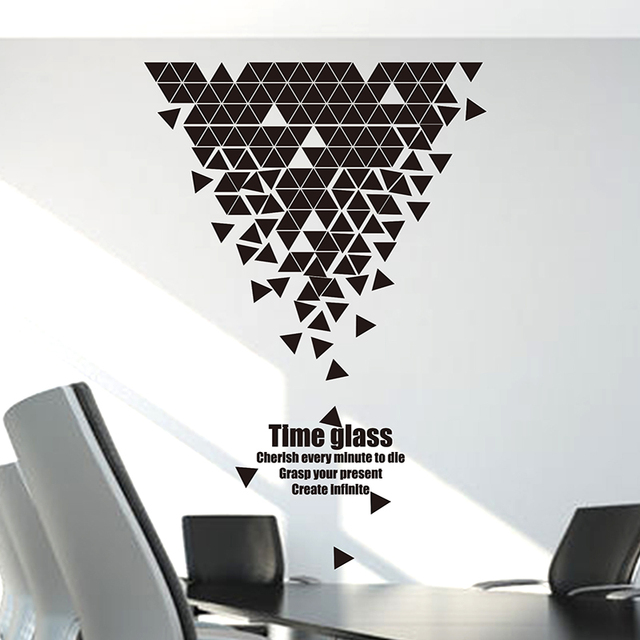 [SHIJUEHEZI] Customized Geometry Trigon Pattern Wall Sticker For Home Decor  Living Room Company Office