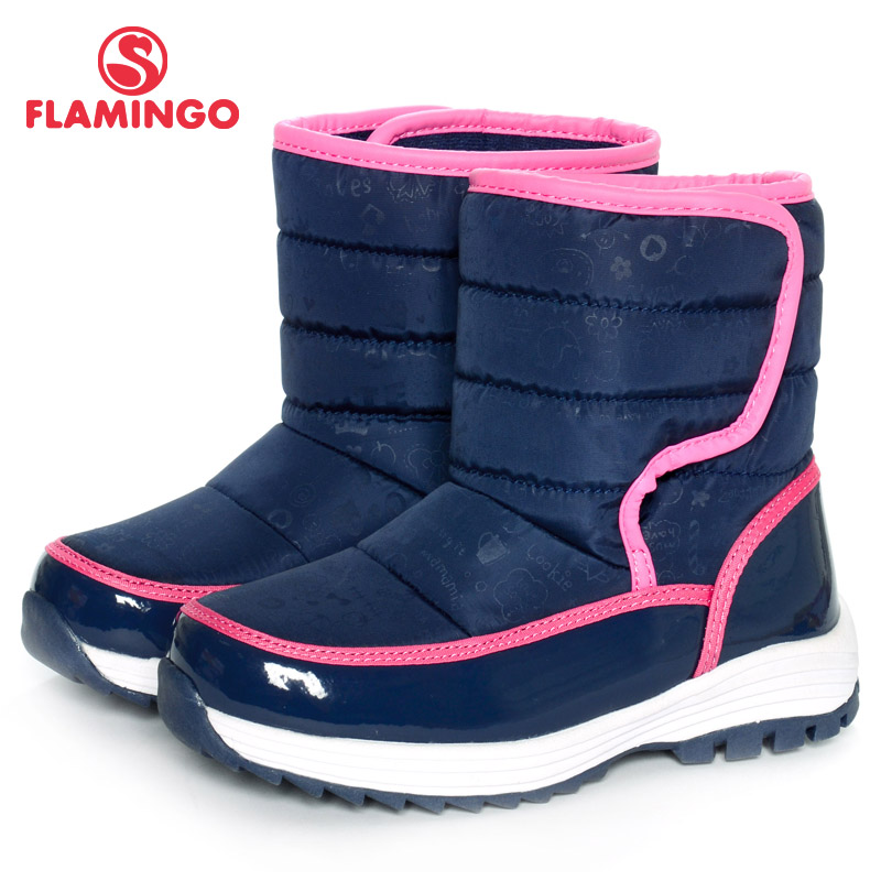 FLAMINGO 2016 new collection winter fashion snow boots with wool high quality anti-slip  ...