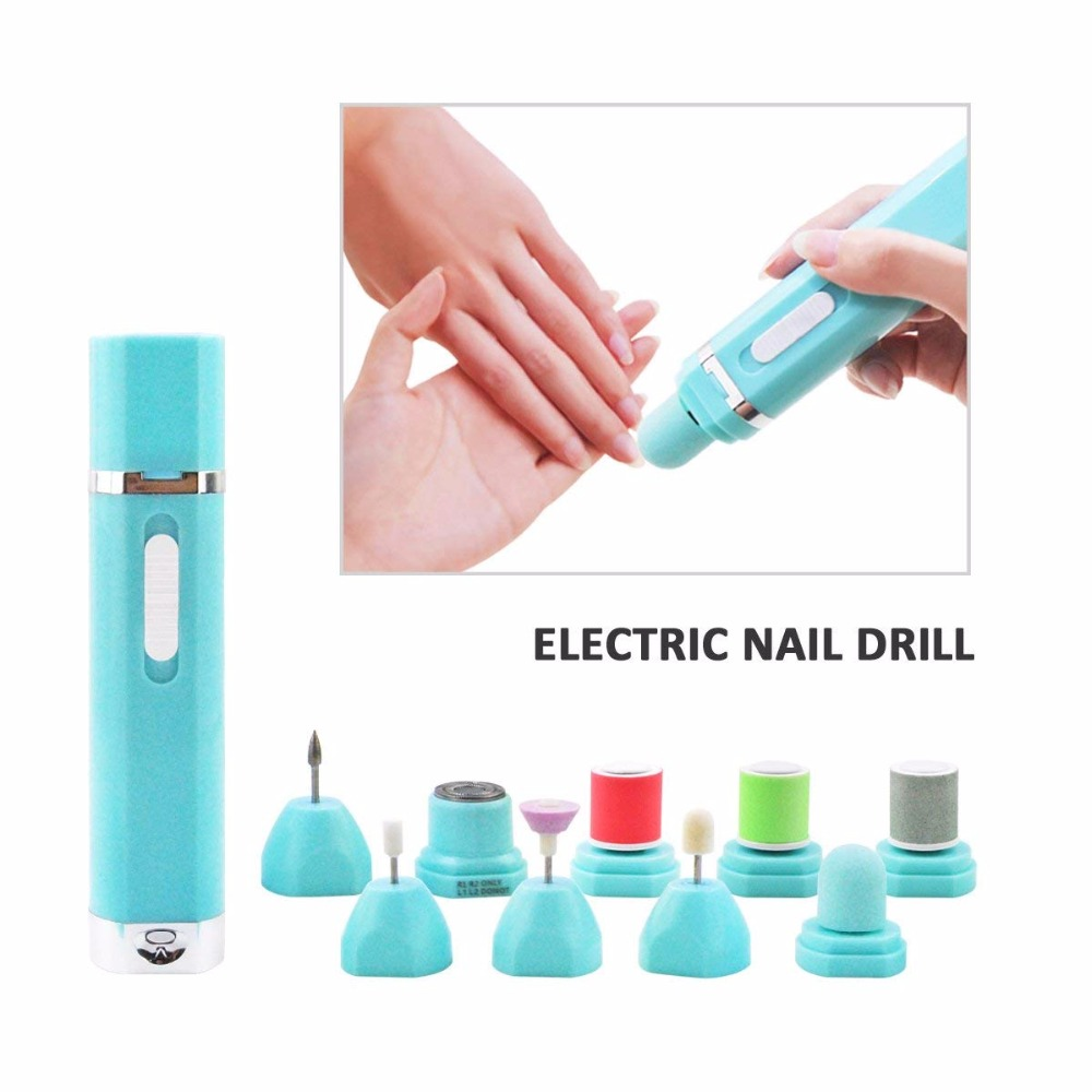 9 in 1 Multifunction Electric Nail Drill Polisher Grinding Machine Shaver Dead Skin Removal Hair Trimmer Pedicure Manicure Tools