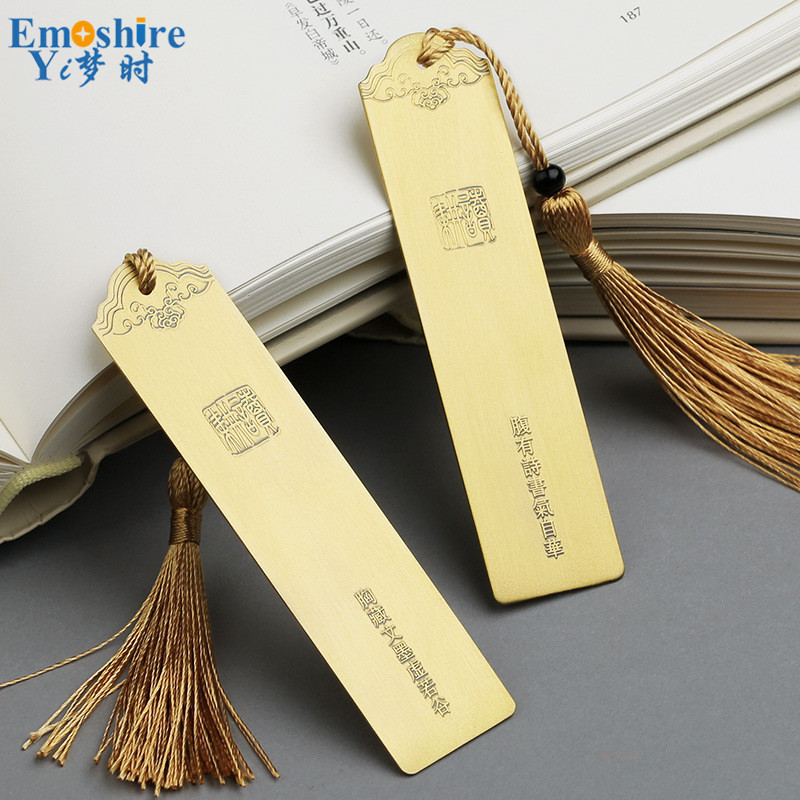 Brand Pairs Bookmark Ancient Double Classic Bookmarks Beautiful Gifts Creative Stationery Custom Lettering for Students M112