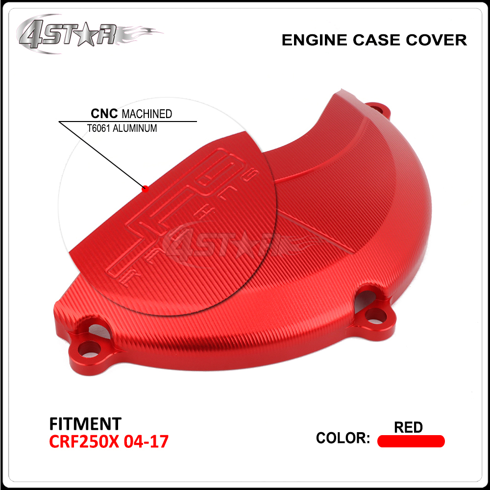 Motorcycle Right Engine Clutch Stator Cover Guard For HONDA CRF250X <font><b>CRF</b></font> <font><b>250X</b></font> <font><b>2004</b></font> 2005 2006 2007 2008 2009 2010 2011 2012-2017 image