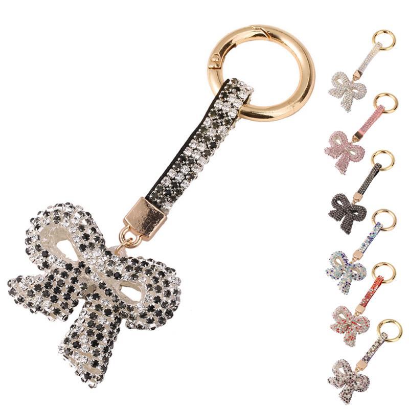 Лук брелки Для женщин мешок автомобильный брелок кольцо ручной Bag Подвеска Key Holder прекрасный кулон аксессуары, сумки