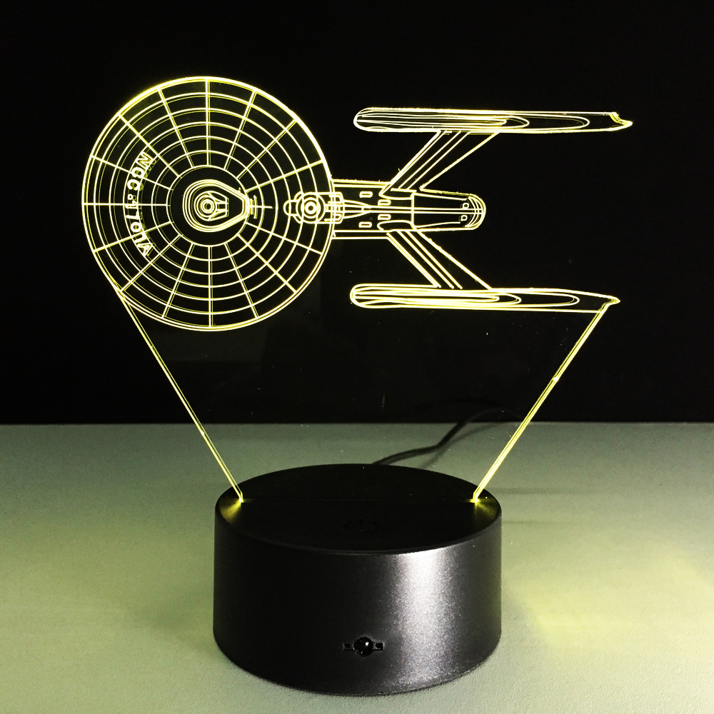 Creative Gifts Star Wars 1707 Fighter Lamp 3D Deco Vision Desk Lampara Led USB 7 Colors Changing Baby Sleeping Night Light