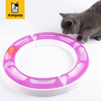 DOBOLA Creative Luxury Cat Toys Funny Puppy Pet Orbital Shaped Toys Intelligence Cat Toy Balls Disk