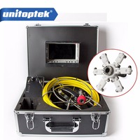 20m Cable Fiber Glass 7 TFT LCD Waterproof Pipe Sewer Inspection Camera Color 1 3 CMOS
