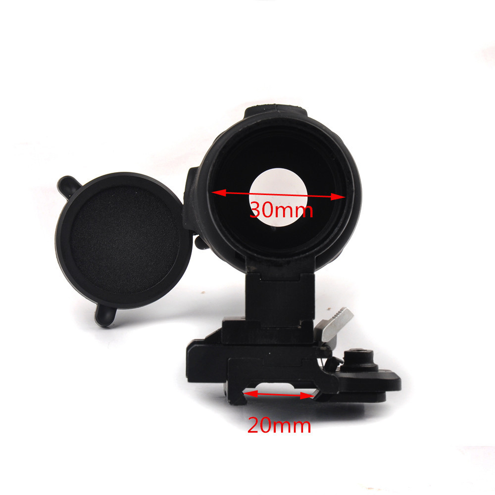 Tactical 3X Magnifier Scope Quick Release for 20mm Picatinny Rail Flip to Side Mount for Rifle Hunting-in Riflescopes from Sports & Entertainment    2