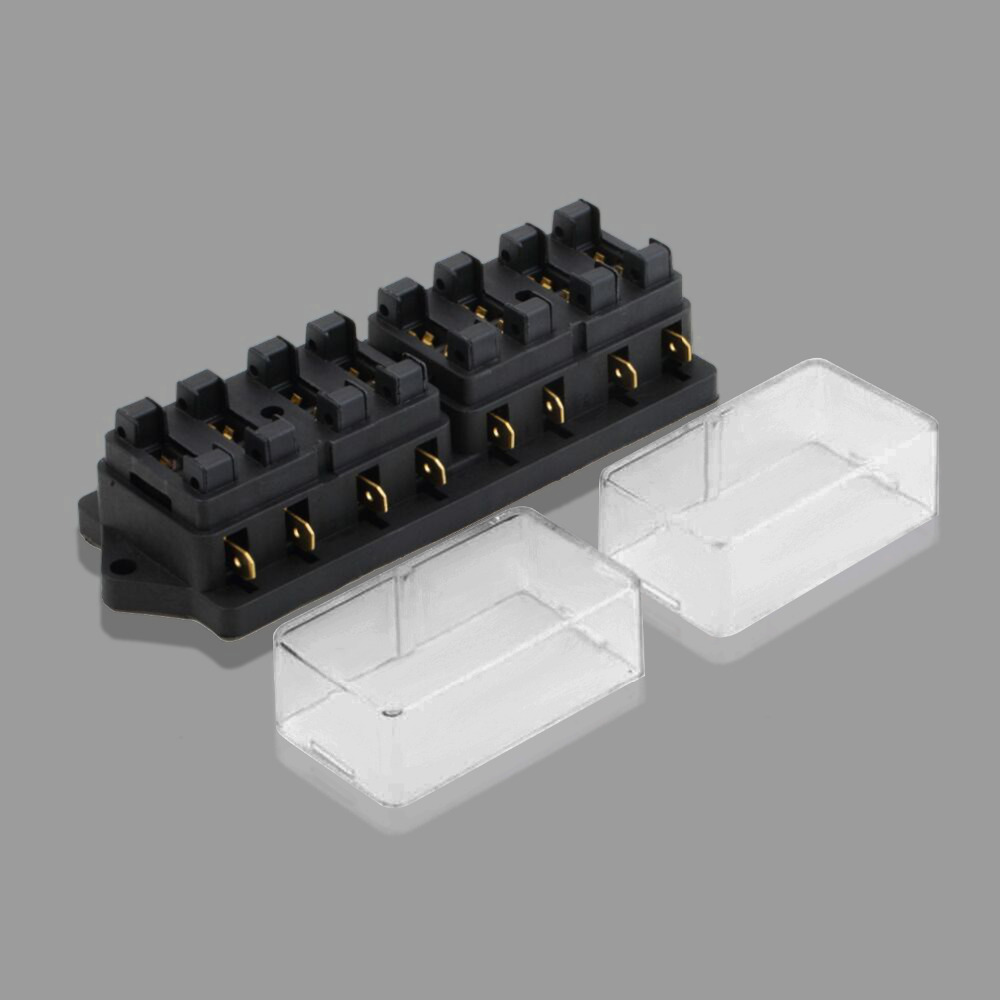 medium resolution of universal 8 way auto car fuse box block fuse holder box car vehicle circuit automotive middle sized blade 250v drop shippping