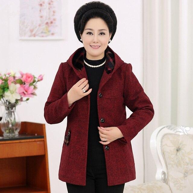 ASLTW XL-5XL шерстяное пальто женские осенние новые поступления однобортный с капюшоном с длинными рукавами пальто плюс размер свободная длинная куртка