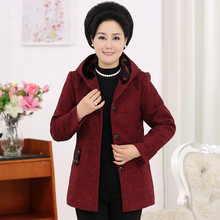 XL-5XL Wool Coat Women Autumn New Arrivals Single Breasted Hooded Long Sleeved Coat Plus Size Loose Long Cardigan Casaco J465