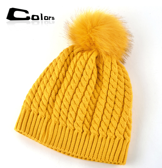 2016 женская зимняя шапка вязаные шапки для женщин шапочки вязаная шапка interwoven pattern женщины шапочки теплый капот Надьмарош ballbone