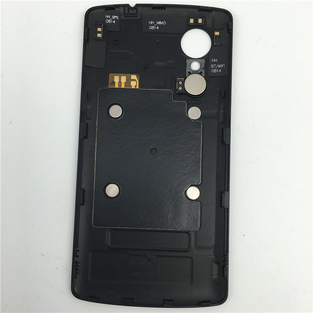 New battery door For LG Google Nexus 5 D820 D821 back cover battery cover replace part with Vibrator + NFC black