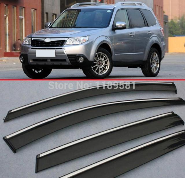 For Subaru Forester 2009 2010 2011 2012 Window Wind Deflector Visor Rain/Sun Guard Vent