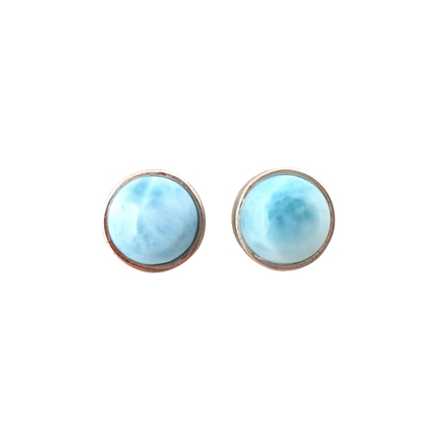 e7b3d5511 LiiJi Unique Natural Caribbean Blue Larimar Classic Real 925 Sterling  Silver Stud Earring For Women For Women Gift