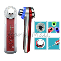 4IN1 Ultrasonic Ionic LED Light Vibration Facial Massager Photon Galvanic Face Cleaning Body Ultrasound Skin Massage