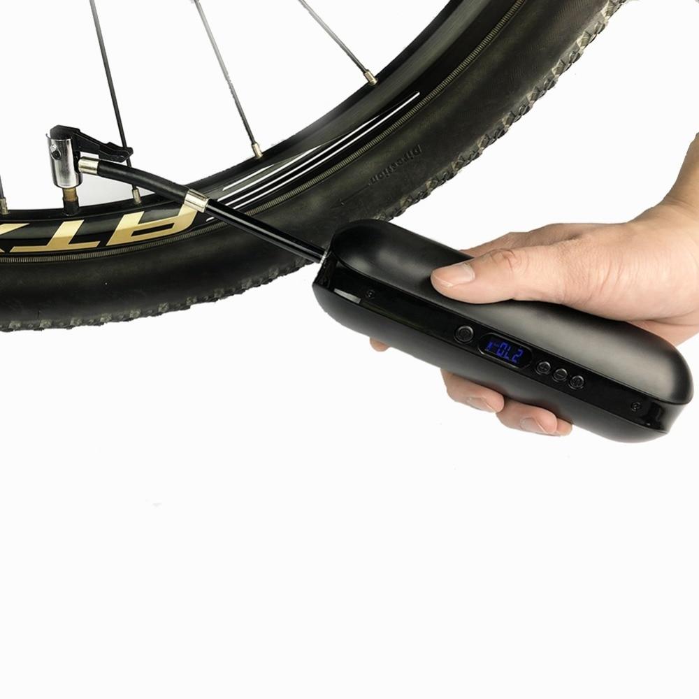 Cycling Bicycle Intelligent Electric Pump USD Charging Bike Pump Easy Carry Precise Pressure Control Bicycle Accessories вилка амортизационная dnm usd 8sa диаметр колёс 24 26 27 5 дюймов 1 1 8 алюминий 2018 usd 8sa