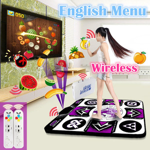 Image 4 - Fitness Dance Mat For TV Wireless Controller Game Pad English Menu TV PC for yoga and fitness Computer Flash Guide Single Dance