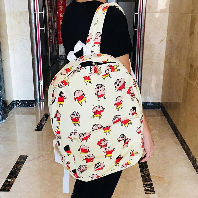 IVYYE Crayon Shin-chan Canvas Backpacks Rucksacks Cartoon School Backpack Casual Student Bags Travel Knapsack Unisex New