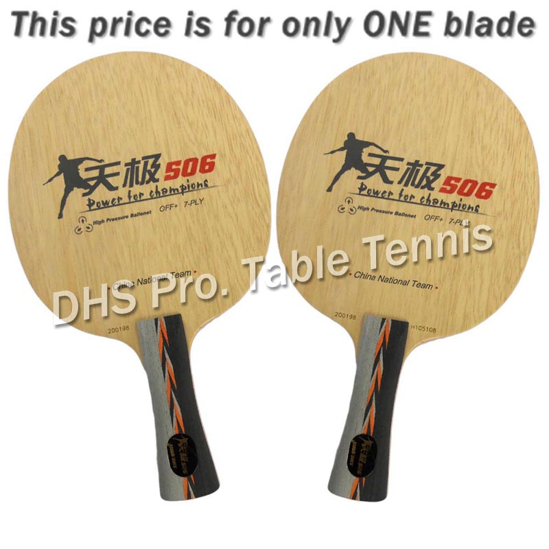 DHS TG 506 Table Tennis PingPong Blade dhs tg 506 tg506 tg 506 7 ply off table tennis blade for pingpong racket