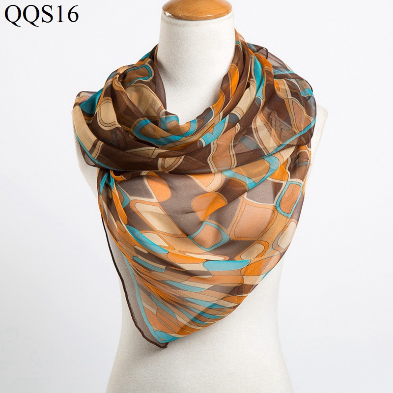 New Fashion Woman Chiffon Scarf Geometrical Intersection Line Scarf Shawl Spring Autumn Garment Accessories Scarf 160cm*50cm