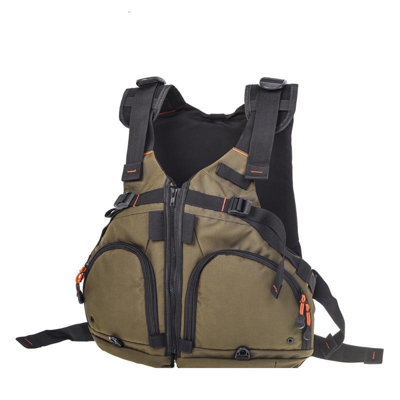 Fishing Vest Breathable Waterproof Muti-Pocket Adjustable Fly Fishing Vest Jacket