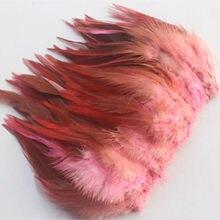 Alta qualidade 50 pcs rosa bonito 10-15 cm/4-6 polegadas faisão naturais penas do pescoço DIY chapéu roupas decoração