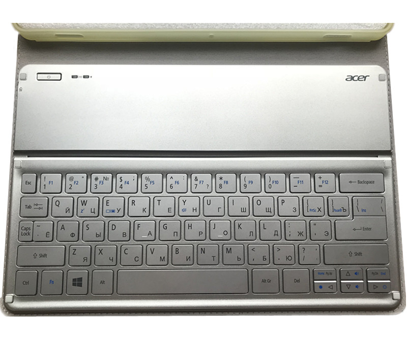 Original Russian Wireless Bluetooth Keyboard Case For Acer Iconia W700 W701 KT-1252 Cover With  Russian  Keyboard Case