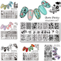 1 Pc BORN PRETTY Nail Art Stamp Template Stamping Plates Floral Panda Geometry Rectangle Manicure Image Plate BPX-L013-L023