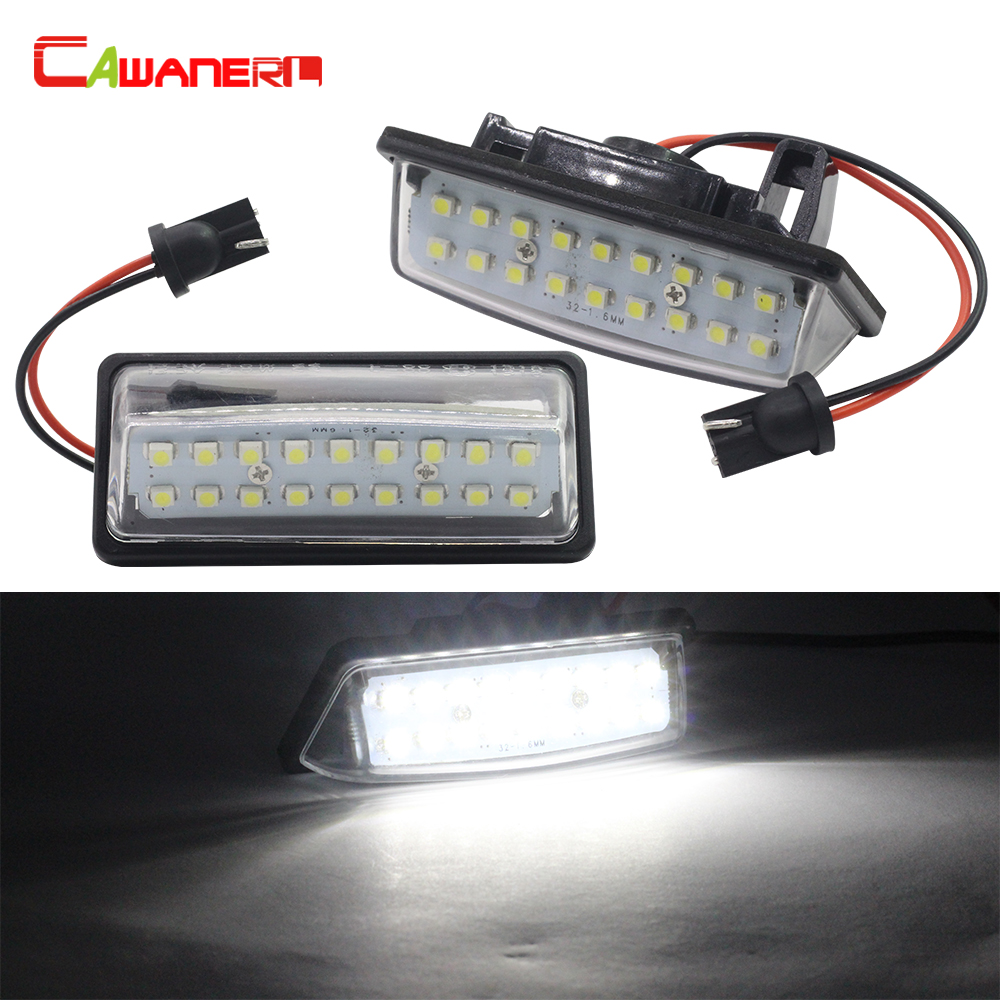 Cawanerl For Nissan Teana Maxima Murano Altima Pathfinder Sentra Rogue Car Styling LED Bulb Number License Plate Light White 12V hopstyling 2pcs direct fit white 18 smd car led license plate light lamp for nissan teana j31 j32 maxima cefiro number light