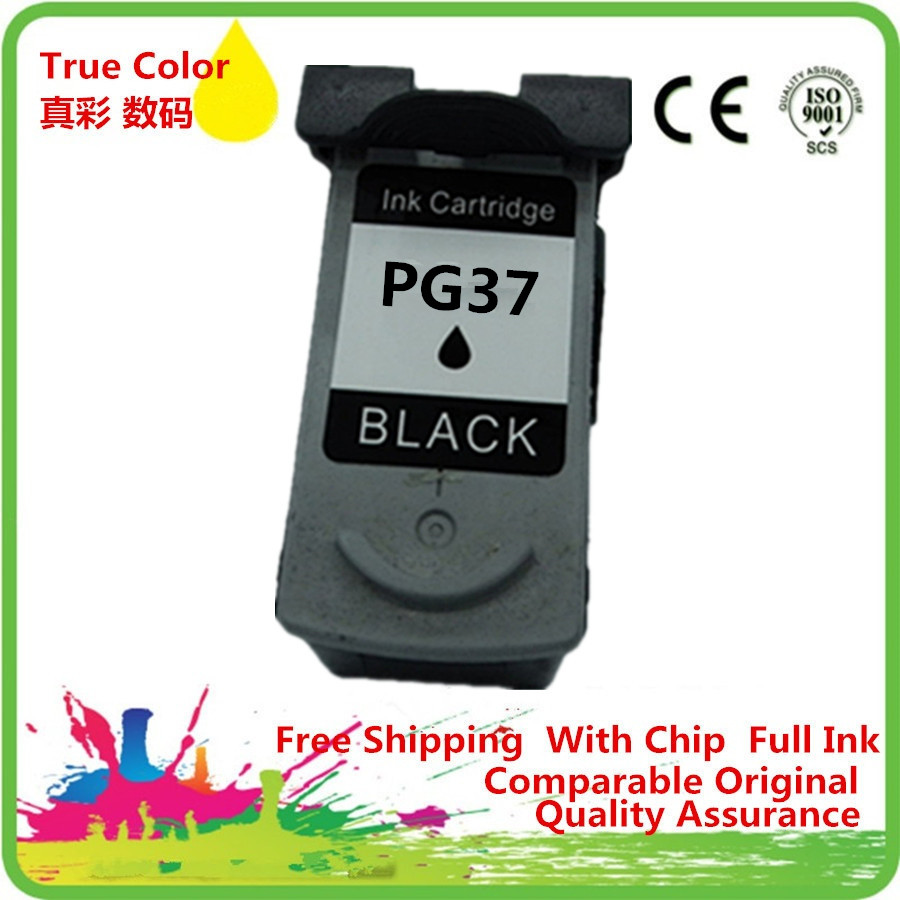 Ink Cartridge Remanufactured For <font><b>Canon</b></font> <font><b>PG</b></font> <font><b>37</b></font> XL <font><b>PG</b></font>-<font><b>37</b></font> PG37 <font><b>PG</b></font>-37XL PG37XL PG37BK Pixma MX338 MX347 MX357 MX366 MX416 MX426 MP140 image