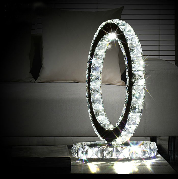 Free Shipping Hot Sell Modern Luxury Crystal Table Lamp Stainless
