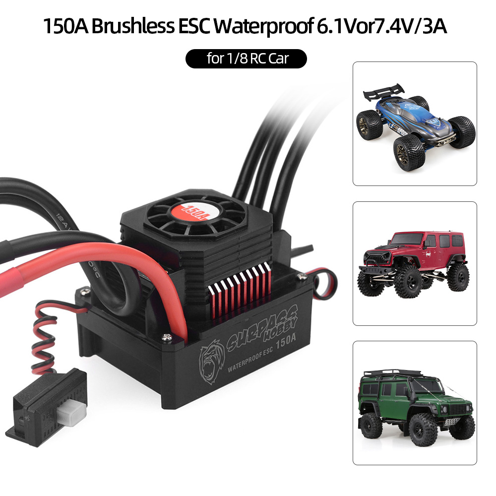 High Quality 150A Brushless ESC Waterproof Electric Speed Controller for 1 8 RC Truck Off road