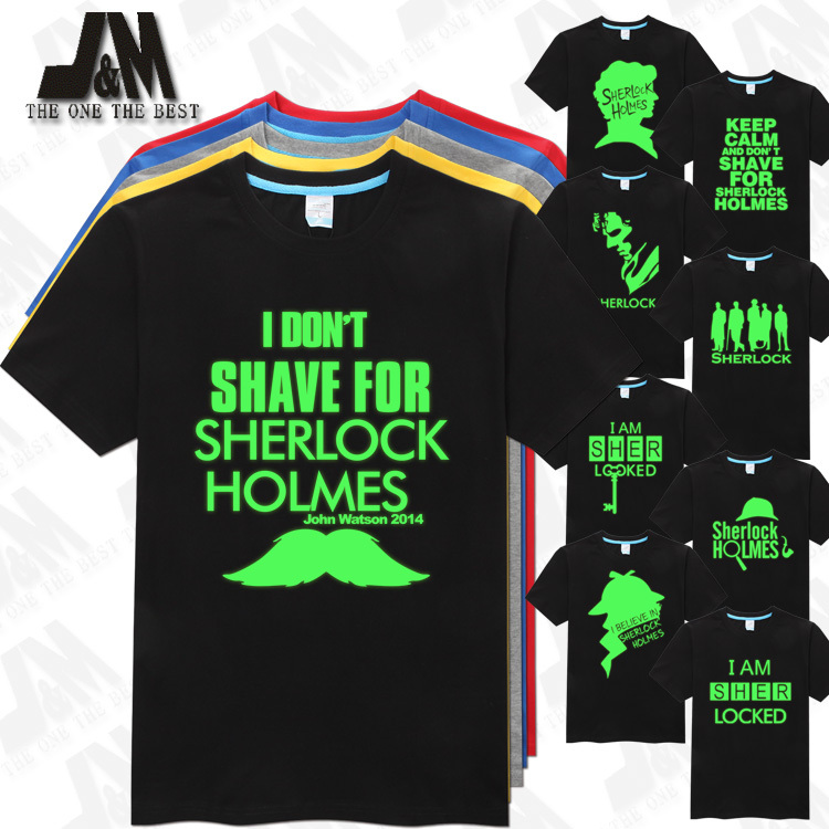 I DON T SHAVE FOR SHERLOCK HOLMES TSHIRT I AM SHER LOCKED MEN T SHIRT BBC
