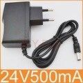 1 шт. 24 в 100 мА Новый адаптер преобразователя переменного тока 240-5,5 в постоянный ток 24 В 2,1 а 2,5 мА Источник питания штепсельная вилка европейск...