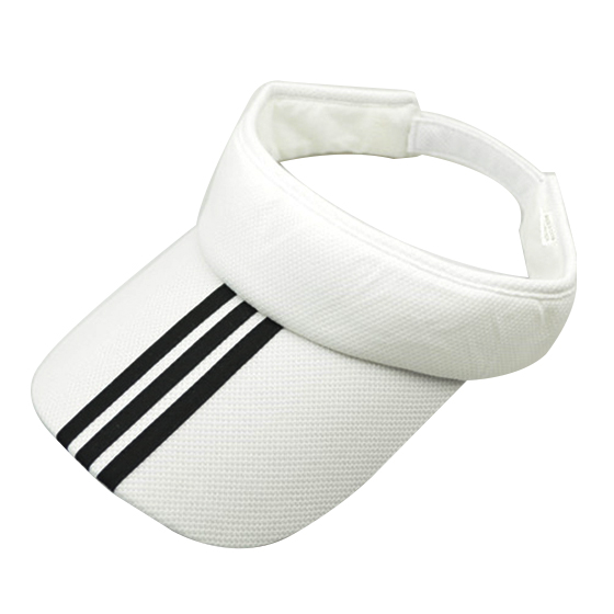 Sports Tennis Golf Sun Visor Hat Hats Adjustable Plain Bright Color Men Women White