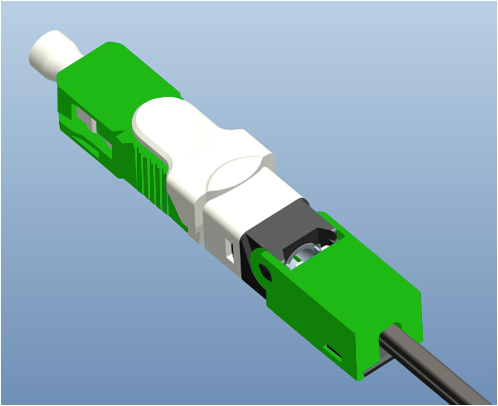 200PCS/Pack FTTH ESC250D APC UPC Single-Mode Fiber Optic SC APC Quick Fast Field Assembly Connector For Drop Cable