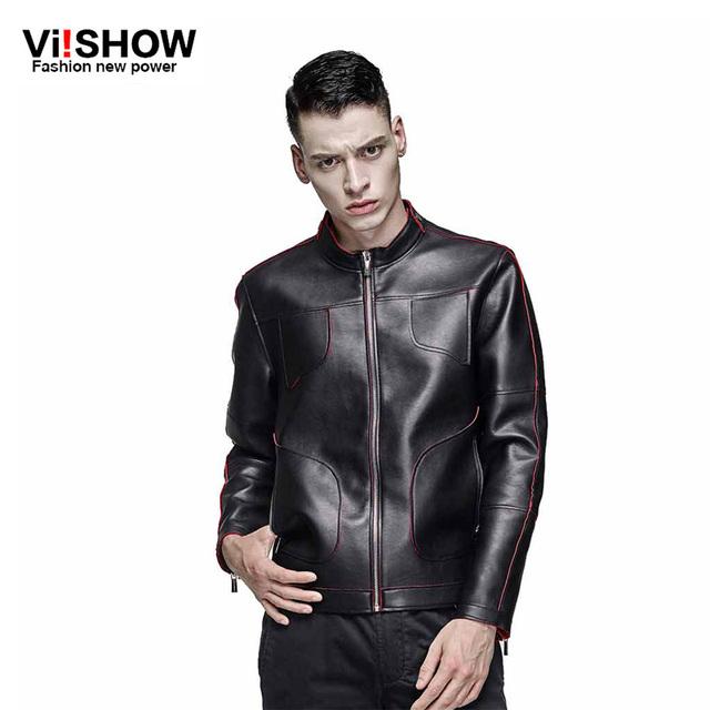 2016 nuevo llega la marca de fábrica delgada motocicleta chaquetas de cuero de los hombres, hombres chaqueta de cuero, jaqueta de couro masculina, para hombre chaquetas de cuero