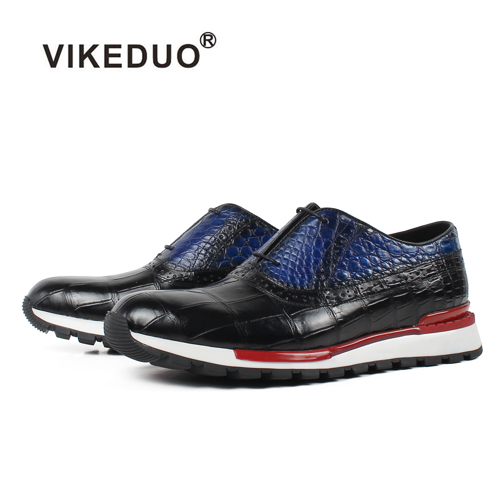 Vikeduo 2019 Summer New Sports Shoes Men Genuine Cow Leather Lace-up Male Shoe Black Casual Oxford Zapato Masculino Breathable