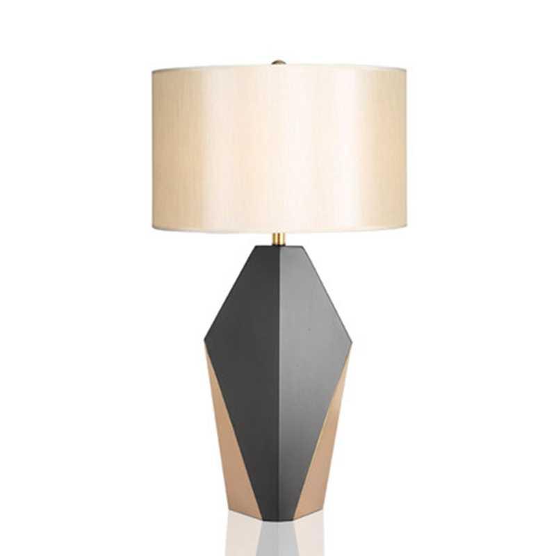 LukLoy роскошный современный американский Настольный светильник из кованого железа креативная модель Домашняя прикроватная мягкая декоративная настольная лампа для Кабинета